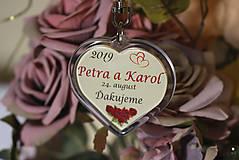 Darčeky pre svadobčanov - Svadobný prívesok - kľúčenka - 10620933_