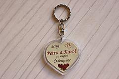Darčeky pre svadobčanov - Svadobný prívesok - kľúčenka - 10620992_