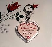 Darčeky pre svadobčanov - Svadobný prívesok - kľúčenka - 10620994_