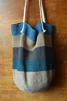 Veľké tašky - Háčkovaná taška - 10619867_