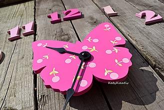 Hodiny - motýlie hodiny - 10619382_
