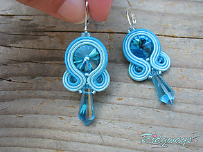 Náušnice - Simple...soutache (Turquoise) - 10619193_