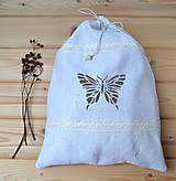 Úžitkový textil - Ľanové vrecko na pečivo - 10620792_