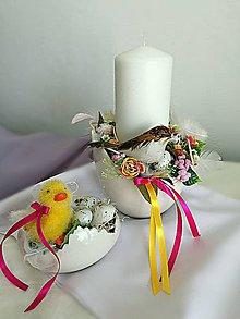 Svietidlá a sviečky - Veĺkonočný svietnik ,,škrupinka