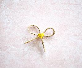 Pierka - Špagátové svadobné pierka (Žltá) - 10620076_