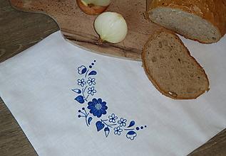 Úžitkový textil - Ramia chlebník Rozkvitnutý oblúčik - 10620637_