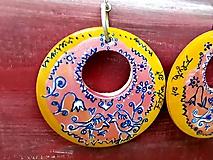 Náušnice - Náušky slávikovanie v ružovom - 10619827_
