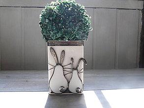 Nádoby - Váza Zajačiky - 10620329_
