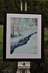 Obrazy - Zimná krajinka - 10621283_