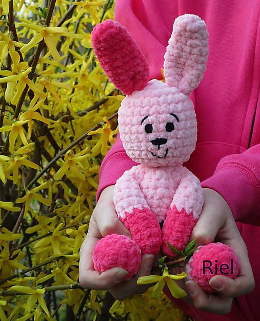 27ef03140 Háčkovaný zajačik - zajka Julka / Riel - SAShE.sk - Handmade Hračky