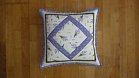 Úžitkový textil - Obliečka na vankúš levanduľová - 10620423_