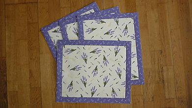 Úžitkový textil - Prestieranie levanduľové   - 10620374_