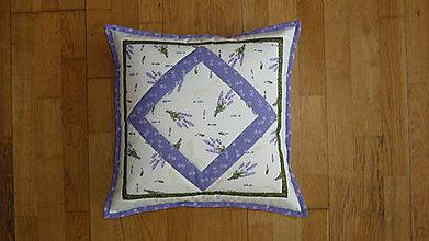 Úžitkový textil - Obliečka na vankúš levanduľová - 10620421_