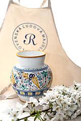Dekorácie - Váza s habánskym dekorom - 10618993_
