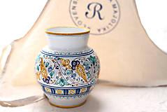 Dekorácie - Váza s habánskym dekorom - 10618994_