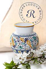 Dekorácie - Váza s habánskym dekorom - 10618995_