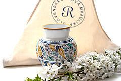 Dekorácie - Váza s habánskym dekorom - 10618996_