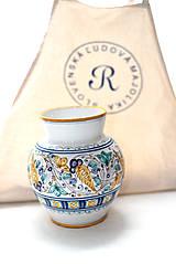 Dekorácie - Váza s habánskym dekorom - 10618997_
