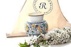 Dekorácie - Váza s habánskym dekorom - 10618998_