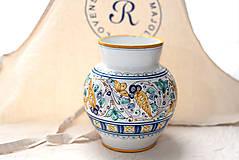 Dekorácie - Váza s habánskym dekorom - 10618999_