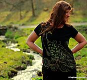 Dámske tričko maľované PÁVČA
