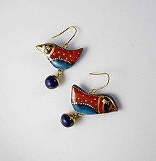 Náušnice - Tana šperky - keramika/zlato - 10620203_