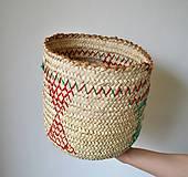 Košíky - Pletený palmový kôš (Wahat) - 10620276_