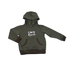 Detské oblečenie - Detská mikina - OwnRules khaki - 10622045_