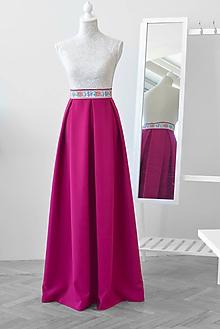 Sukne - MAXI skladaná sukňa s vreckami - 10619049_