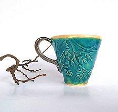 Nádoby - Šálka na kávu...tyrkysová... - 10620174_