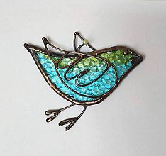 Dekorácie - Dekorácia na stenu -vtáčik- - 10620206_
