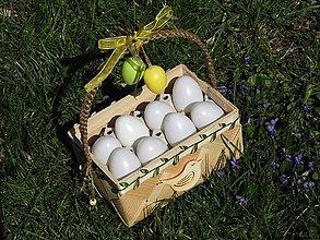 Košíky - Stojan na dochucovadla/košík na 8 vajec přírodní - 10621631_