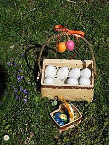 Košíky - Sada dvou košíčků na vejce s krajkou - 10621681_