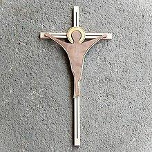 Dekorácie - Moderný Drevený Kríž - 10620049_