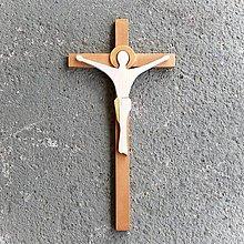Dekorácie - Moderný Drevený Kríž - 10620065_