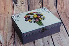 Krabičky - Šperkovnica vo fialovom na želanie ... - 10620211_