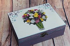Krabičky - Šperkovnica vo fialovom na želanie ... - 10620212_