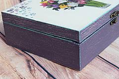Krabičky - Šperkovnica vo fialovom na želanie ... - 10620213_