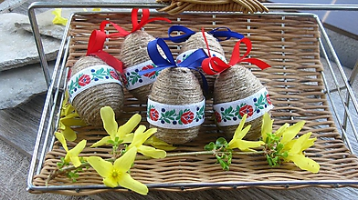 Dekorácie - Veľkonočné vajíčka ľudové folk 5 ks, č. 2607 - 10621202_