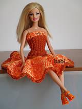 Hračky - Háčkované šaty pre Barbie - 10620602_