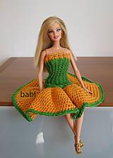 Háčkované šaty pre Barbie (Žltá)