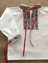 Detské oblečenie - Chlapčenská folklórna košieľka - 10620209_