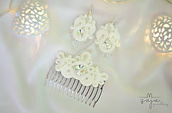 Sady šperkov - Svadobná šujtášová sada so Swarovski - 10620632_