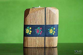 Svietidlá a sviečky - Maľovaný svietnik - 10621599_