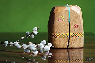 Svietidlá a sviečky - Maľovaný svietnik - 10621630_