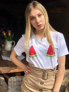 292e365f8058 Tričká - Dámske tričko z organickej bavlny MELÓN - 10618741