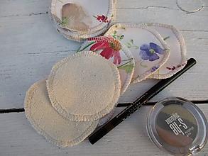 Úžitkový textil - odličovacie tampóny-letná lúka - 10618844_
