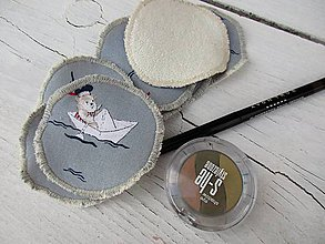 Úžitkový textil - odličovacie tampóny námorník - 10621149_