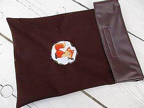 Textil - cestovné PUL vrecko líška na hnedej - 10621203_