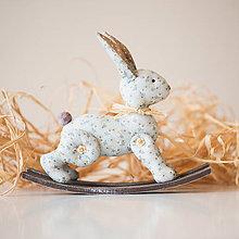 Bábiky - Textilný zajačik - 10620432_